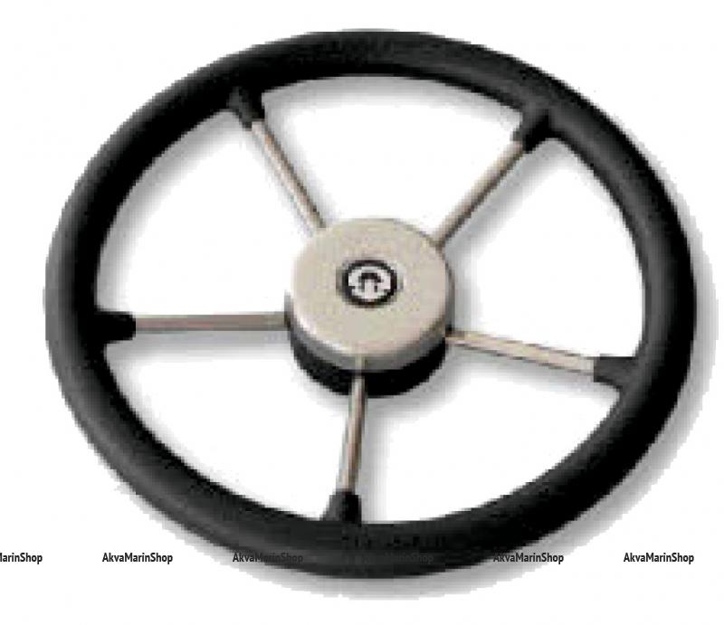 Рулевое колесо 350 мм нержавеющие спицы с ободом из полиуретана Riviera Арт KMG