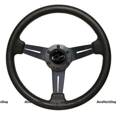 Рулевое колесо 350 мм обод черный полиуретан (под кожу) модель Beta, Multiflex Арт KMG 613025
