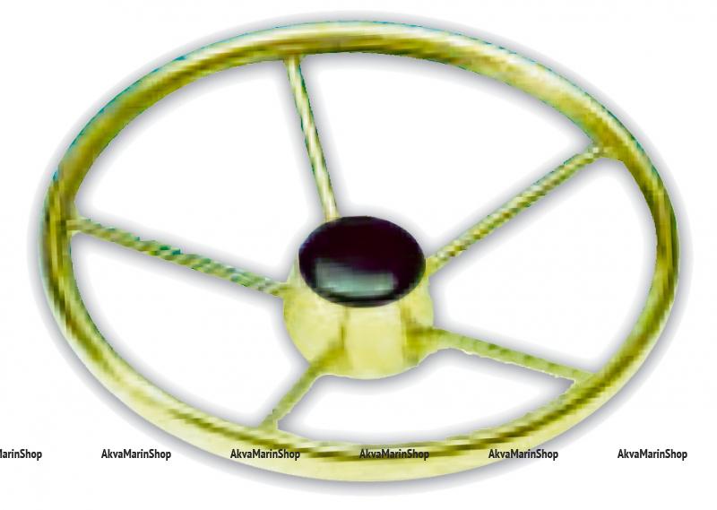 Рулевое колесо 400 мм из нержавеющей стали с зеркальной полировкой Арт KMG613011