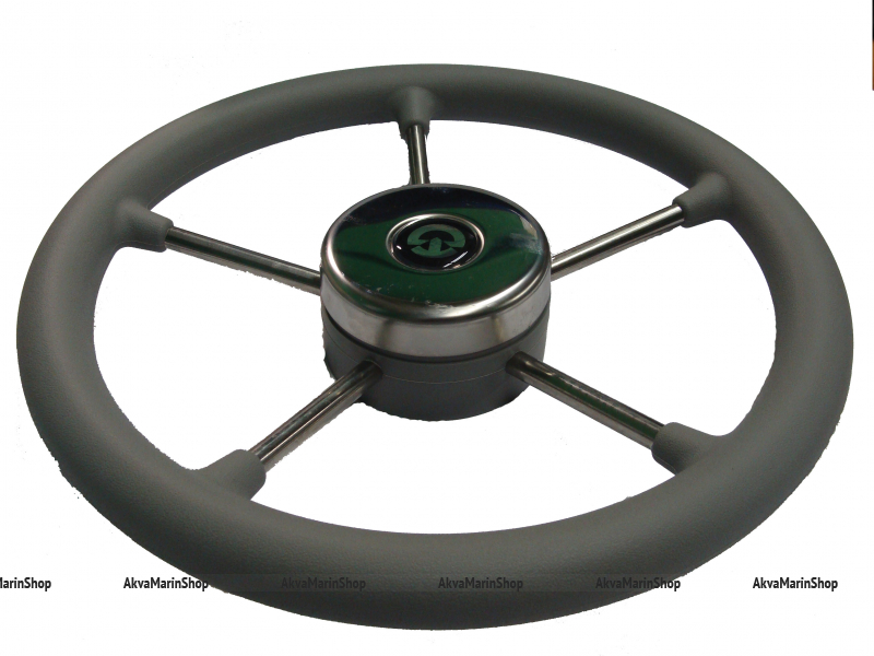 Рулевое колесо 400 мм с нержавеющими спицами с ободом из полиуретана Riviera Арт KMG