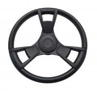 Рулевое колесо GUSSI 013 320 мм обод и спицы черные из полиуретана Арт VDN