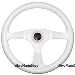 Рулевое колесо трёхспицевое 350 мм из ударопрочного термопластика Multiflex Арт CMG 613024