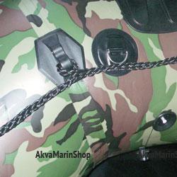 Рым с двумя D-кольцами 22 мм из нержавейки черный Арт Bdr