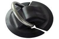Рым буксировочный с круглым основанием 77 мм и нержавеющим кольцом Арт Adm