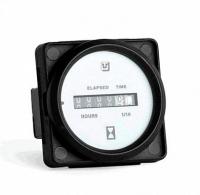 Счетчик моточасов с белым циферблатом и черным ободком UFLEX США 60554Y Арт Akva 1177