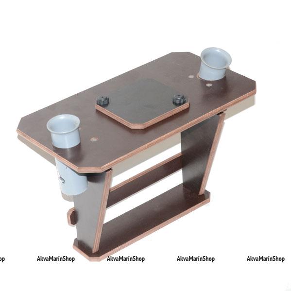 Столик для эхолота с держателями для спиннинга №3 Арт TB
