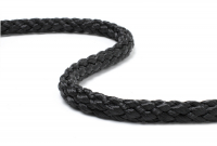 Шнур леерный плетеный 8 мм черный Арт Adm