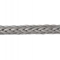Шнур леерный плетеный 12 мм серый Арт BdrROPE-12