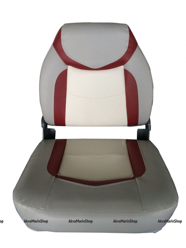 Сиденье мягкое серого цвета с красно-белыми вставками Арт CMG 710251