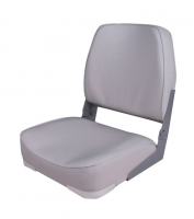 Сиденье складное мягкое серое низкая cпинка Арт CMG 710186