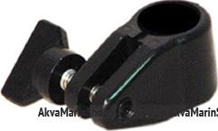 Скользящий кронштейн диаметр 18 мм чёрный пластик Арт CMG 710105