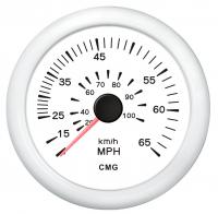 Спидометр белый с белой окантовкой, манометрический WEMA Арт KMG 510041