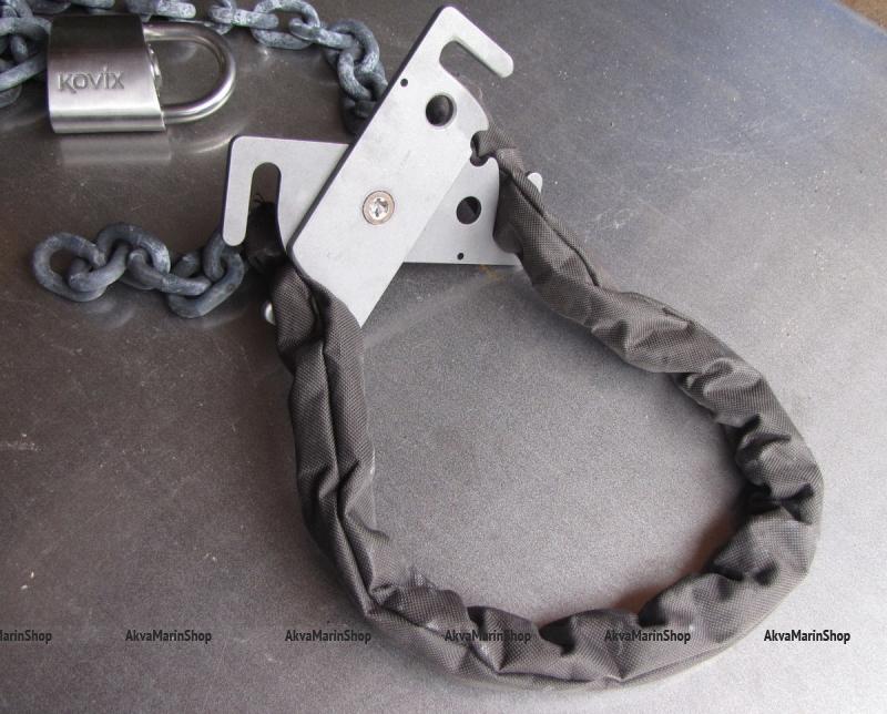 Стальная закаленная цепь повышенной прочности с размером звена 8 мм длина 3 м.