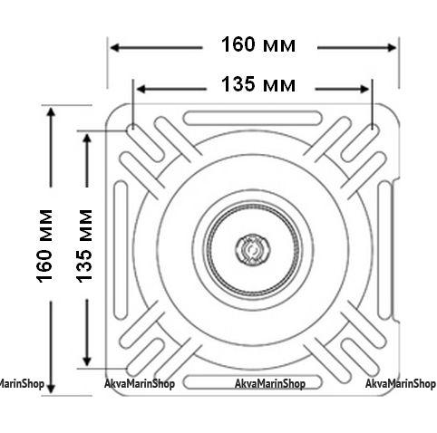 Стойка для кресла в катер стальная 178 мм Easterner C12573 Арт CMG 210172