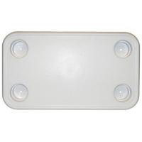 Столешница прямоугольная белая 41х71 см Арт CMG 710190