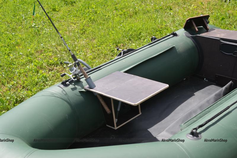 Столик для эхолота и аккамулятора с держателем удилища для лодки ПВХ Арт TB11