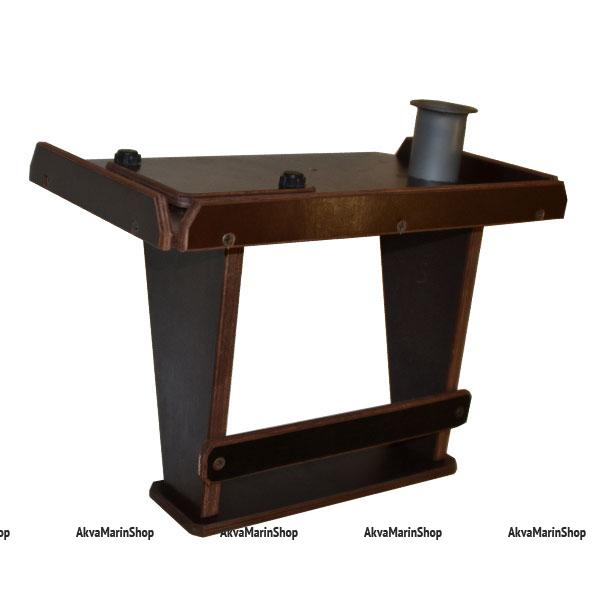 Столик для эхолота с держателем для спиннинга и полочкой для аккумулятора Арт TB22