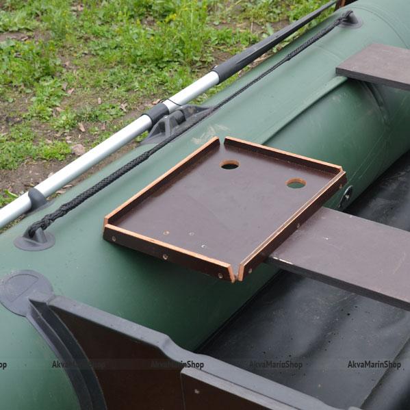 Столик для лодки ПВХ с держателями удилищ на сиденье Арт TB10