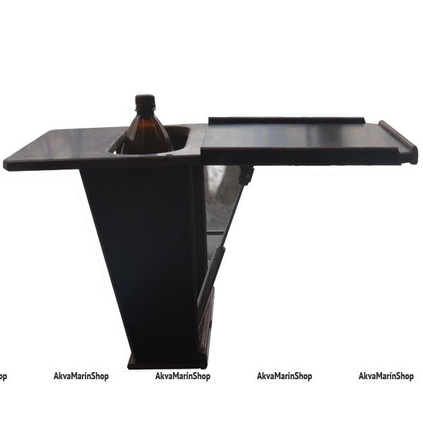 Столик для лодки ПВХ с нишей под пластиковые бутылки Арт TB14