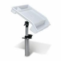 Столик для установки в держатель удилища, подставка с линейкой для рыбака, (белый пластик) Арт CMG 210287