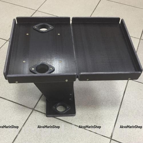 Столик раскладной с креплением на ликтрос с 2-я удочкодержателями Арт Ptr