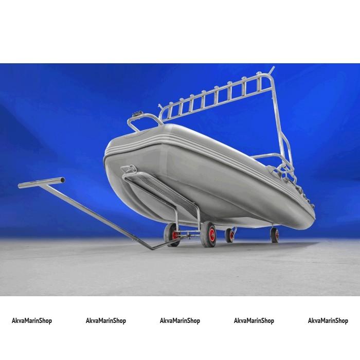 Тележка подкильная для надувных лодок большая нержавеющая сталь Арт Thm 060228T
