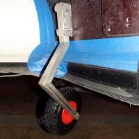 Транцевые колеса ТК-185Н из нержавеющей стали для лодки с НДНД  с увеличенными колесами Арт Kl ТК-185Н