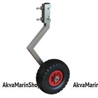 Быстросъемные транцевые колеса ТК-180Н из нержавеющей стали для лодки с НДНД или лодки с косынками снизу Арт Kl ТК-180Н