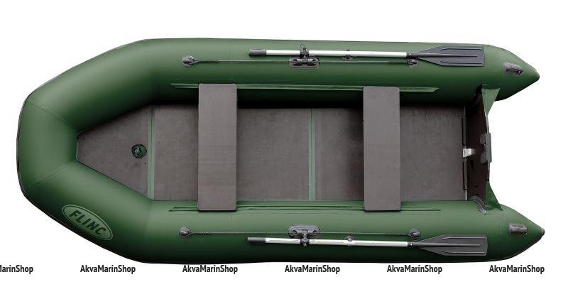 Транцевая надувная лодка с надувным килем FLINC FT360K