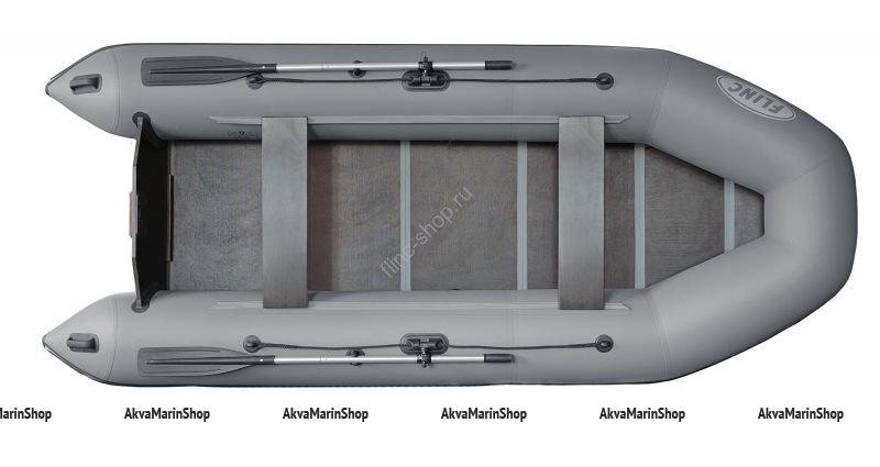 Транцевая плоскодонная надувная лодка FLINC FT340L