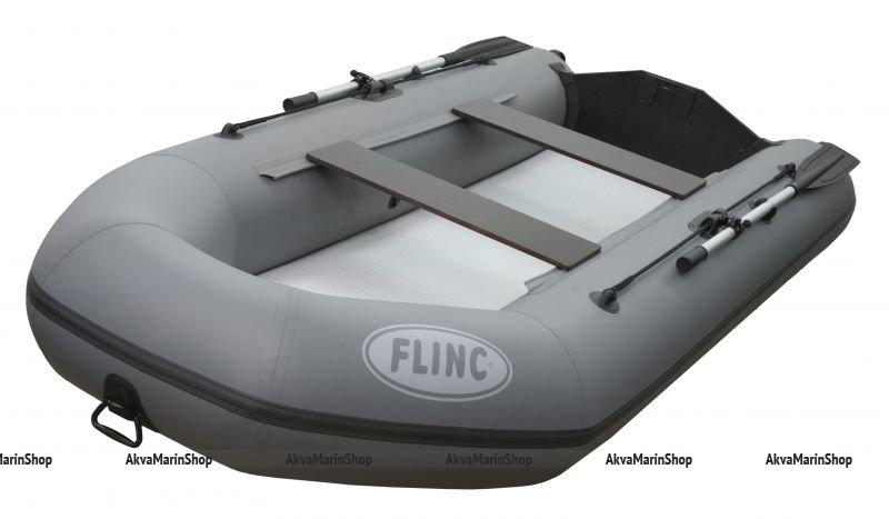 Транцевая плоскодонная надувная лодка с надувным дном высокого давления аэрдэк FLINC FT290LA