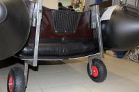 Транцевые колеса для лодки с НД на струбцинах без сверления транца, оцинкованная сталь Арт IvT