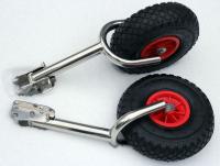 Транцевые колеса откидные с вилкой с кронштейном из нержавеющей стали Арт MS