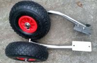 Транцевые колеса откидные из нержавеющей стали с зеркальной полировкой c креплением  на 2 болта Арт MS