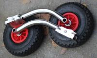 Транцевые колеса перекидные из нержавеющей стали с зеркальной полировкой c креплением на 4 болта Арт MS