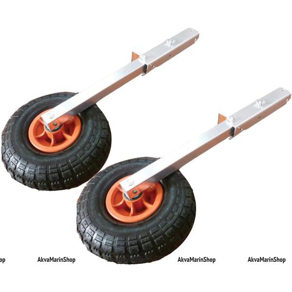 Транцевые колеса перекидные с алюминиевой стойкой Арт KMG 210294