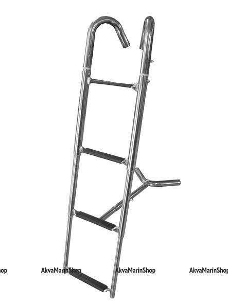 Трап носовой съемный на три ступени нержавеющая сталь Арт KMG 210065