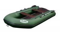Трехместная транцевая надувная лодка с надувным килем FLINC FT340К