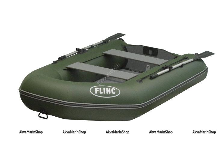 Трехместная транцевая надувная лодка с плоским днищем FLINC FT320L