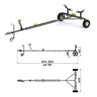 Трейлер для транспортировки легких катеров (чер.мет.) Арт Tm 060242T