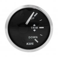 Трим-указатель 0-190 Ом черный циферблат нержавеющий ободок д. 52 мм KUS Арт VDNJMV00315_KY09028