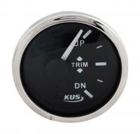 Трим-указатель Mercury черный циферблат нержавеющий ободок д. 52 мм KUS Арт VDNJMV00314_KY09043