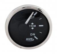 Трим-указатель Suzuki черный циферблат нержавеющий ободок д. 52 мм KUS Арт VDNJMV00303_KY09042