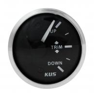 Трим-указатель Yamaha c 2001 г. черный циферблат нержавеющий ободок д. 52 мм KUS Арт VDNJMV00300_KY09041