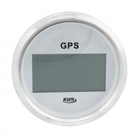 Цифровой GPS-спидометр с белым циферблатом и нержавеющим ободком с выносной антенной KUS Арт VDNJMV00260_KY08109