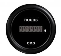 Цифровой счётчик моточасов чёрный с чёрной окантовкой WEMA Арт KMG 510034