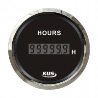 Цифровой счётчик моточасов чёрный с нержавеющей окантовкой KUS Арт VDNJMV00290_KY39000