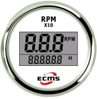Цифровой тахометр со счетчиком моточасов белый ECMS Арт Skipper 800-00261