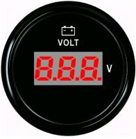 Цифровой вольтметр с нержавеющим черным ободком Арт Skipper 800-00155