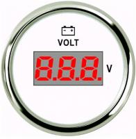 Цифровой вольтметр с нержавеющим ободком Арт Skipper 800-00151